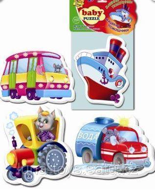 "Игр.набор ""Мягкие пазлы""  ""Baby puzzle Транспорт"""