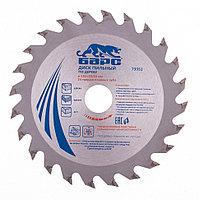 Пильный диск по дереву 130 x 20/16 мм, 24 зуба твердосплавных зуба, БАРС, фото 1
