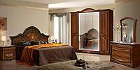Опера набор коричневой мебели для спальни 5д