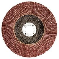 Круг лепестковый торцевой КЛТ-1, зернистость P 80 (16H), 125x22.2 мм, (БАЗ) Россия
