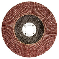 Круг лепестковый торцевой КЛТ-1, зернистость P 120 (10H), 180x22.2 мм, (БАЗ) Россия