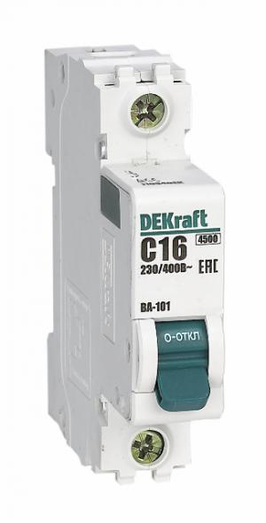 Автоматический выключатель ВА 101 1P 1А 4,5кА С DEKraft 1 полюсный