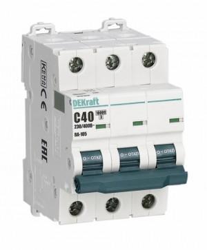 Автоматический выключатель ВА 105 3P 63А 10кА С DEKraft