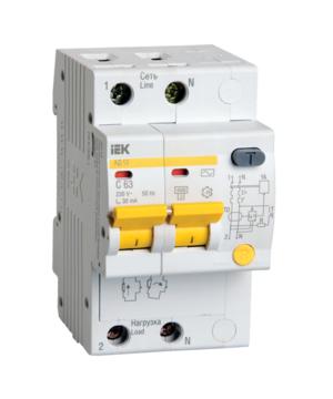 Автоматическое устройство защитного отключения УЗО АД 12 (2ф) 25А