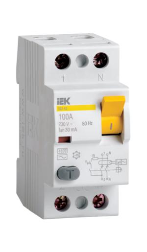 Автоматическое устройство защитного отключения УЗО ВД1 63 (2ф) 16А