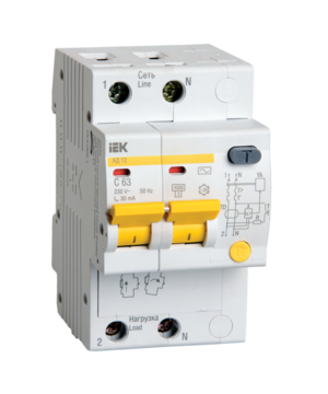 Автоматическое устройство защитного отключения УЗО АД 12 (2ф) 50А
