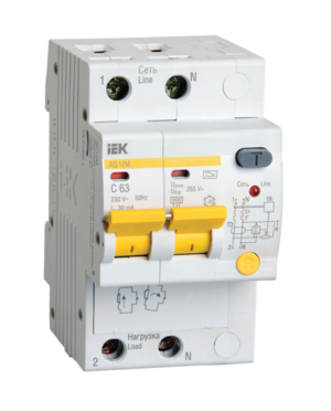 Автоматическое устройство защитного отключения УЗО АД12М (2ф) 25А