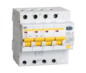 Автоматическое устройство защитного отключения УЗО АД 14 (4ф) 16А