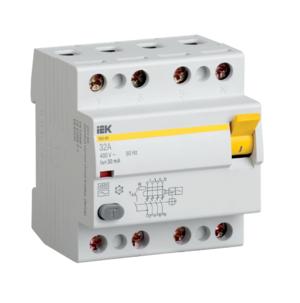 Автоматическое устройство защитного отключения УЗО ВД1-63 (4ф) 25А