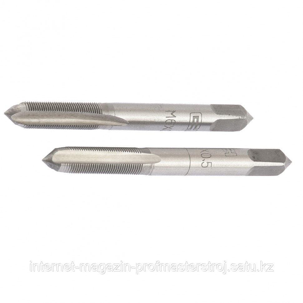 Метчик ручной M6 x 0.5 мм, комплект из 2 шт., СИБРТЕХ