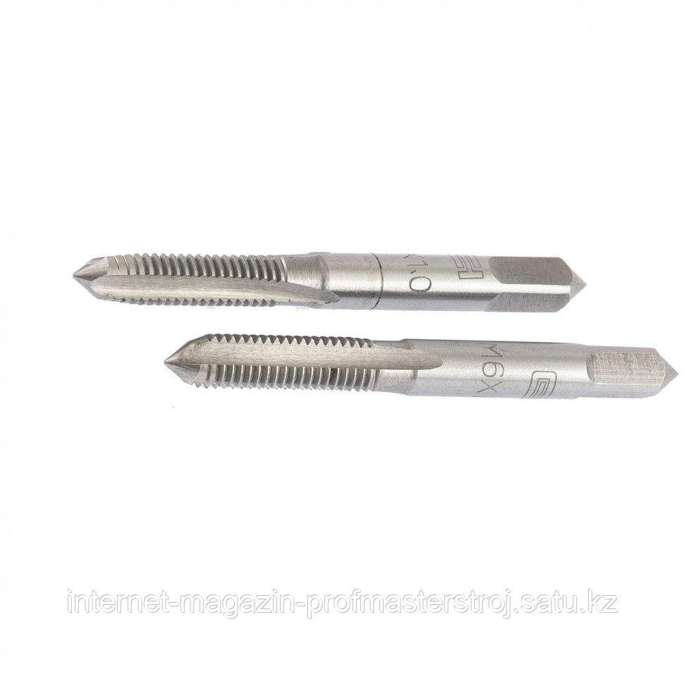 Метчик ручной M6 x 1.0 мм, комплект из 2 шт., СИБРТЕХ