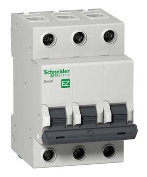 Автоматический выключатель F34363 EZ9 ВА 3ф 63А 4,5кА 3 полюсный