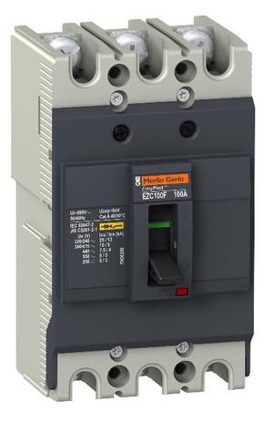 Автоматическое устройство защитного отключения EZC250F 18KA 400B 3П/3T 125А
