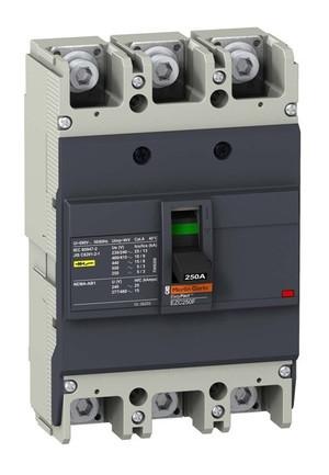Автоматическое устройство защитного отключения EZC250N 25KA 400B 3П/3T 250А