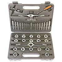 Набор метчиков и плашек М3-М12, плашко-метчикодержатель, 40 предметов, в пластиковом боксе, SPARTA