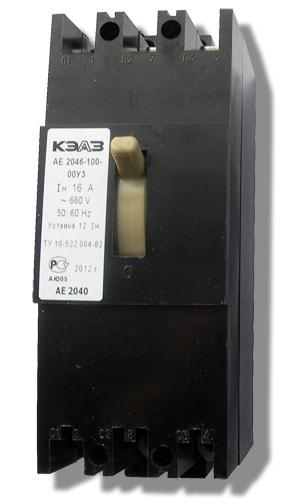Автоматический выключатель АЕ 2046-100 (3ф) 16А