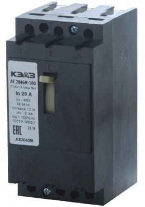 Автоматический выключатель АЕ 2046 М-100 (3ф) 12,5А