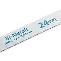 Полотна для ножовки по металлу, 300 мм, 24TPI, BIM, 2 шт., GROSS