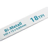 Полотна для ножовки по металлу, 300 мм, 18TPI, BIM, 2 шт., GROSS