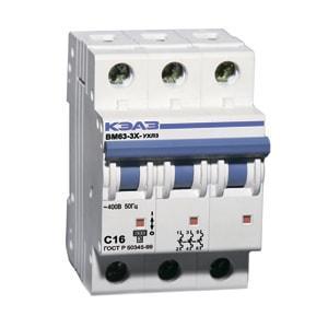 Автоматический выключатель BM63-3XС 16А