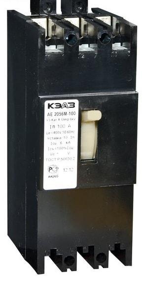 Автоматический выключатель АЕ 2056-М1-100 (3ф) 125А