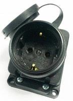 Розетка наружной установки с заглушкой 3Р+Е 16 А 380В 3102-306-0300