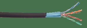 Витая пара F/UTP (24 AWG) категории 5Е экран 4 пары LDPE внеш.черный ITK