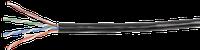 Витая пара U/UTP категории 5Е 4х2х0,51 solid LDPE внешний черный ITK