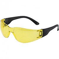 Очки защитные открытые, поликарбонатные, желтые ОЧК202 (0-13022). Россия