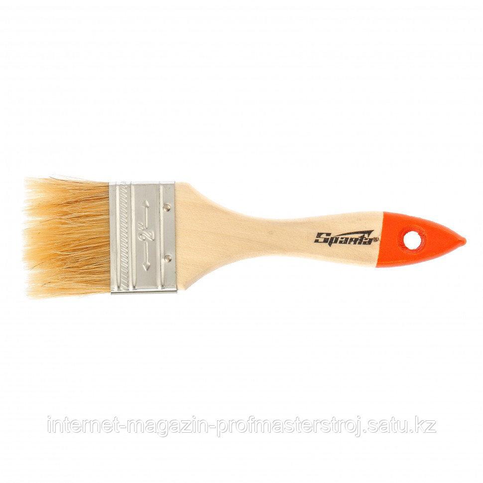 """Кисть плоская SLIMLINE 2"""" (50 мм), натуральная щетина, деревянная ручка, SPARTA"""