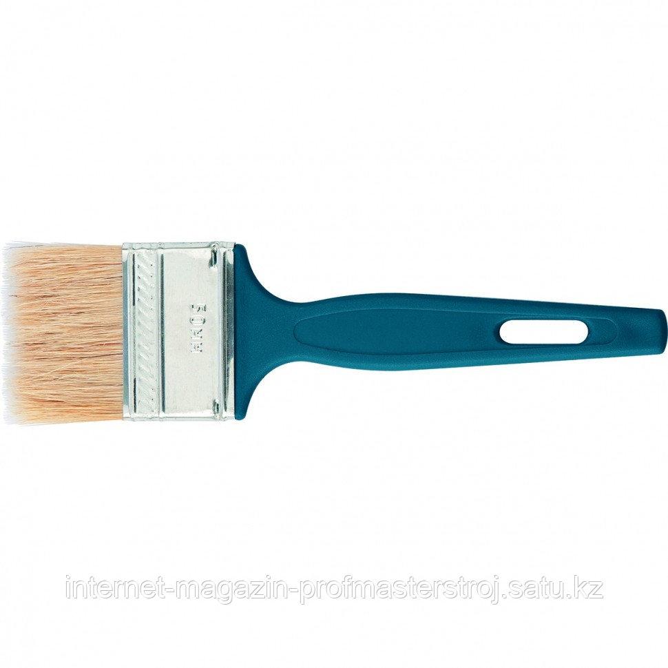 Кисть флейцевая 25x6 мм, пластиковая ручка, эксперт СИБРТЕХ