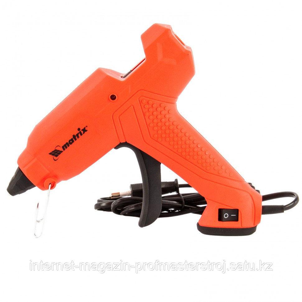 Клеевой пистолет, 11 мм, 30 (160) Вт, 18 г./мин, выключатель и индикатор напряжения. MATRIX