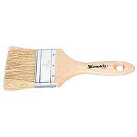 """Кисть плоская """"ЕВРО"""" 2.5"""" (63 мм), натуральная щетина, деревянная ручка, MATRIX"""