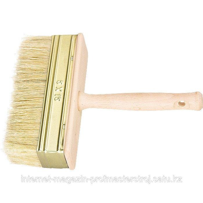 Кисть-макловица, 30x70 мм, натуральная щетина, деревянный корпус, деревянная ручка, РОССИЯ