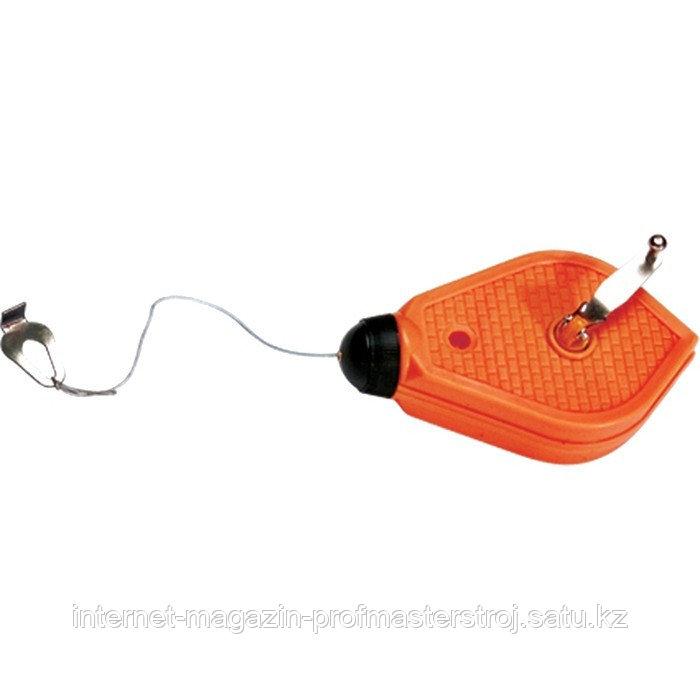 Шнур разметочный, 15 м, пластмассовый корпус, SPARTA