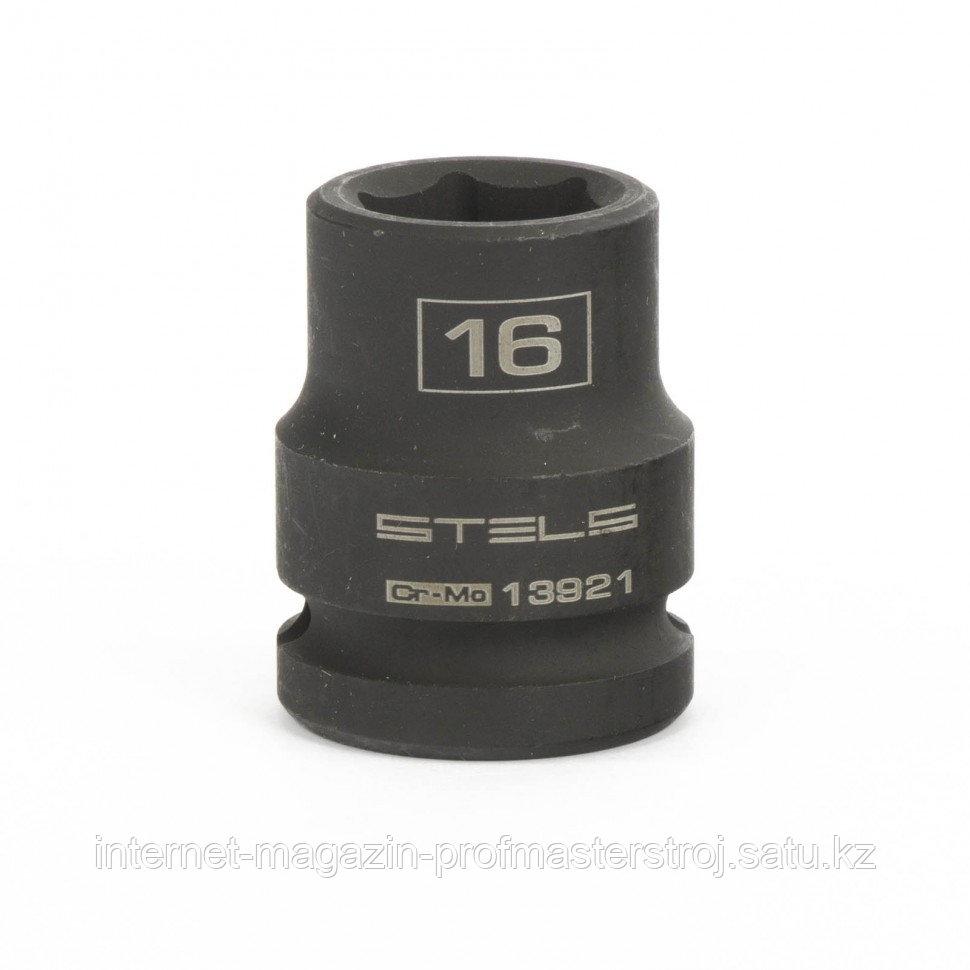 Головка ударная шестигранная, 16 мм, 1/2, CrMo. STELS
