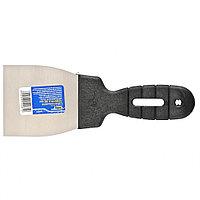 Шпательная лопатка из нержавеющей стали, 80 мм, пластмассовая ручка, СИБРТЕХ