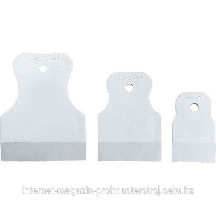 Набор шпателей 40-60-80 мм, белая резина, 3 шт., SPARTA