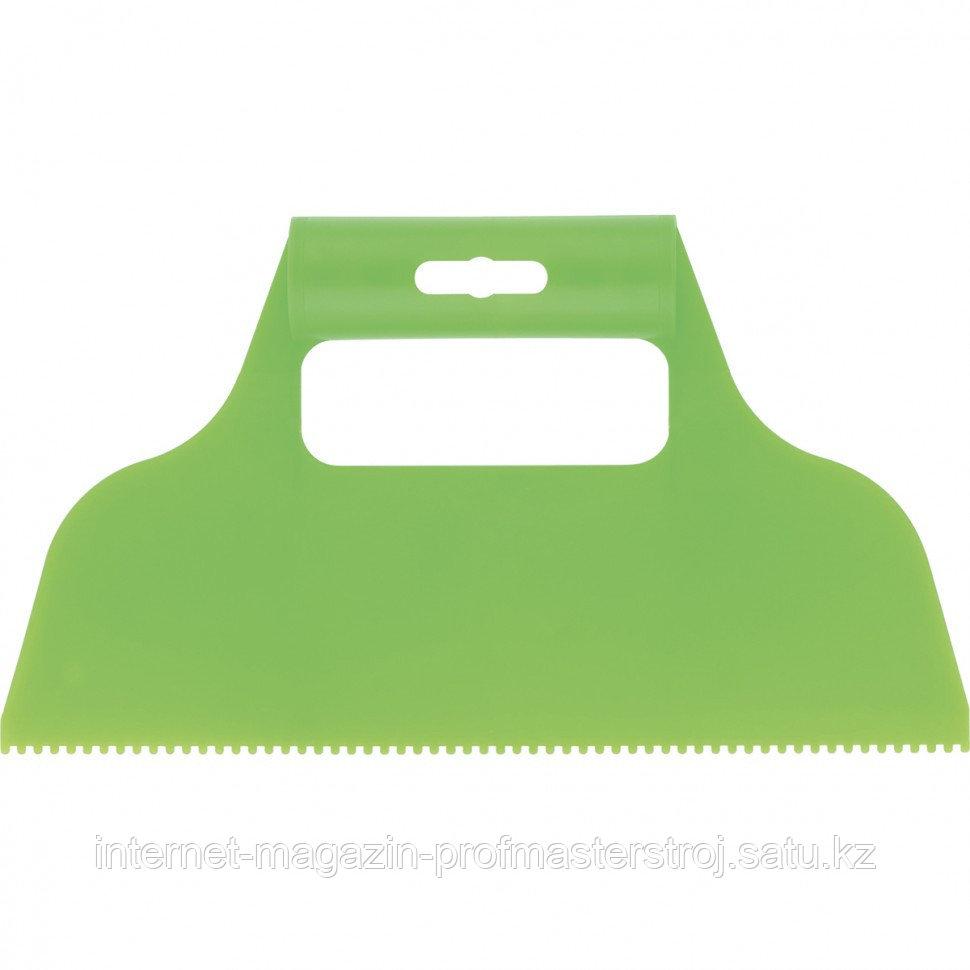 Шпатель для клея, пластмассовый, зубчатый 2x2 мм, СИБРТЕХ