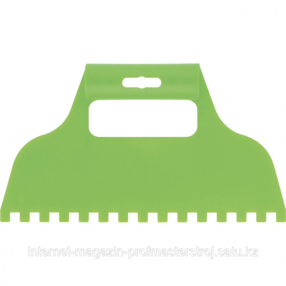 Шпатель для клея, пластмассовый, зубчатый 8x8 мм, СИБРТЕХ