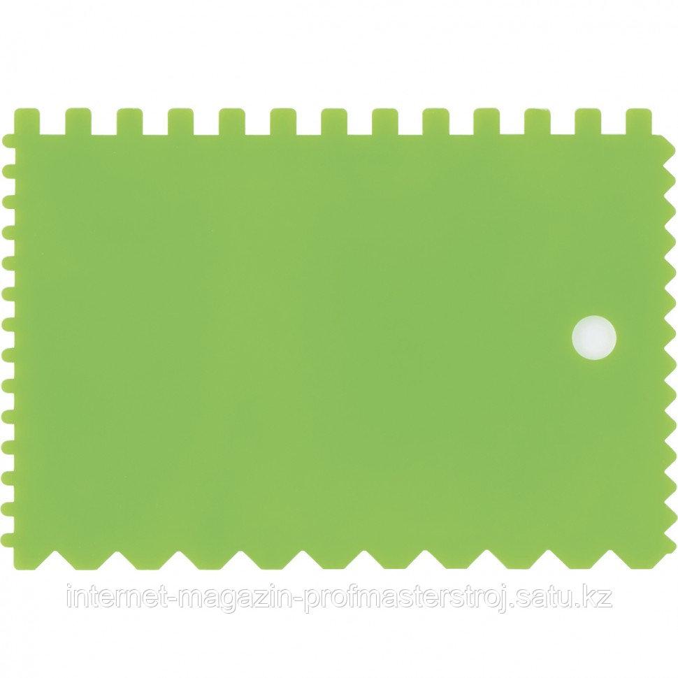 Шпатель для клея, пластмассовый, 90x130 мм, зубчатый, СИБРТЕХ