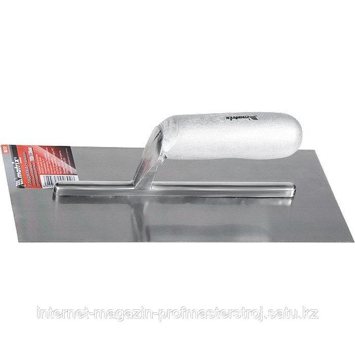 Гладилка стальная, 280x130 мм, зеркальная полировка, деревянная ручка, MATRIX