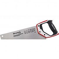 Ножовка по дереву для точных пильных работ, 350 мм, каленый зуб 3D, 14 TPI, трехкомпонентная рукоятка, PRO.