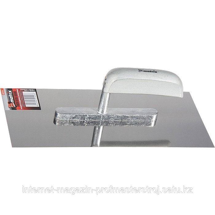 Гладилка из нержавеющей стали, 600x130 мм, деревянная ручка, MATRIX