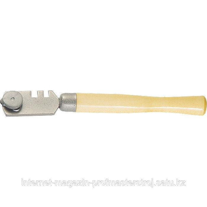 Стеклорез 3-роликовый с деревянной ручкой, РОССИЯ