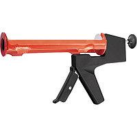 """Пистолет для герметика, 310 мл, """"полуоткрытый"""", противовес, круглый шток 8 мм, MATRIX"""