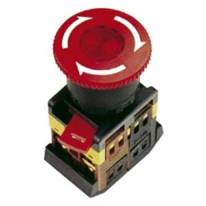 Кнопка ANE-22 (грибок с фиксац.красн.неон)