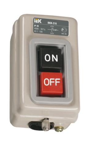 Выключатель кнопочный ВКИ-216 3Р 10А 230\400В IP40
