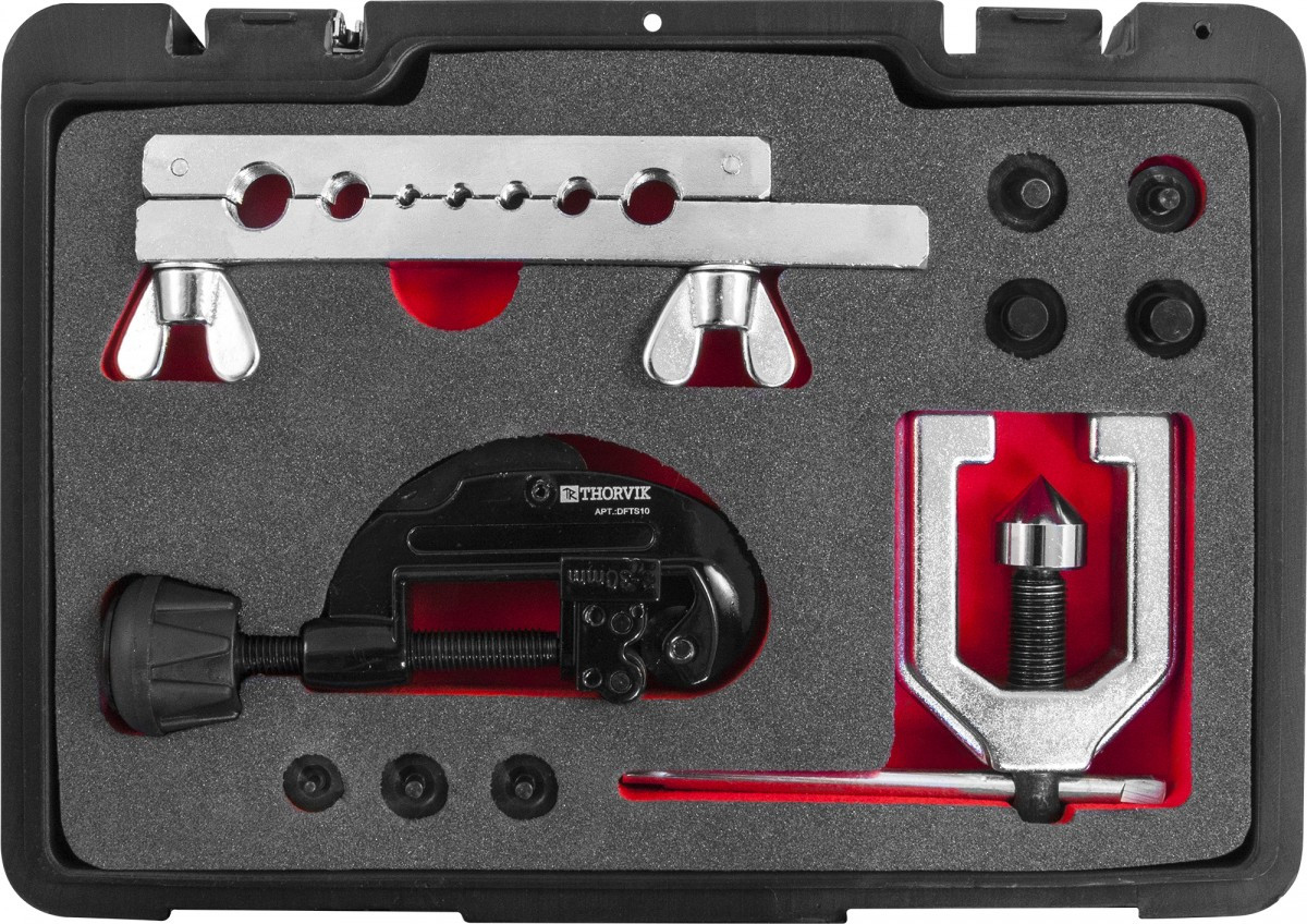 DFTS10 Набор для развальцовки трубок, 10 предметов