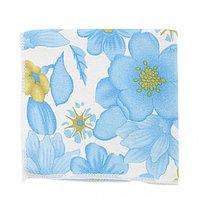 Салфетка из микрофибры с синими цветами, 300x300 мм, ELFE